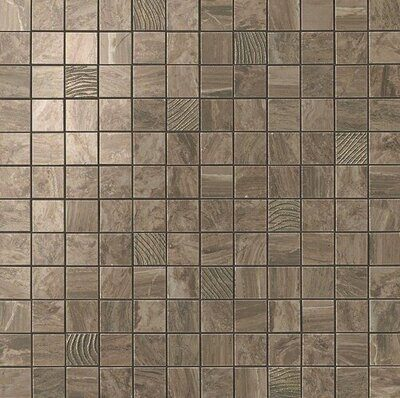 S.M. Woodstone Taupe Mosaic 30.5*30.5 cm